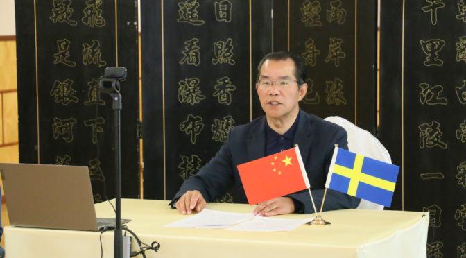 """桂从友大使在瑞典""""一带一路""""执行小组视频研讨会上致辞"""