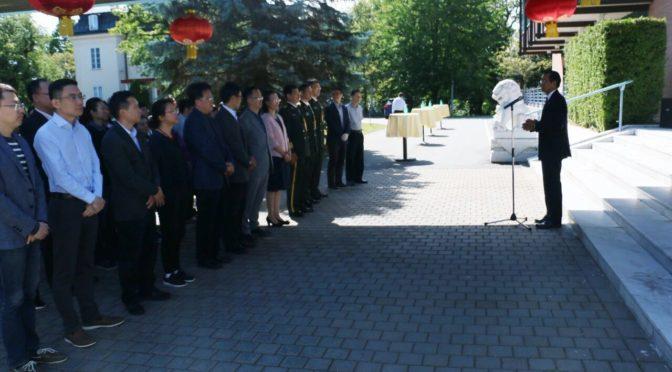 中国驻瑞典使馆举办庆祝建军93周年活动