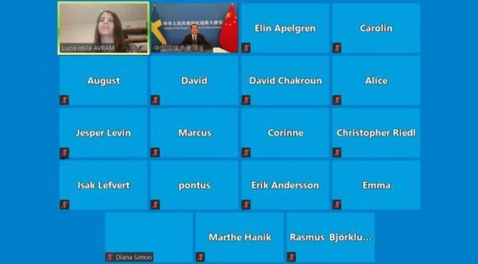 今日头条:桂从友大使就南海问题同乌普萨拉大学学生视频交流