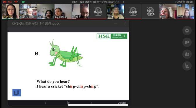 首次HSK汉语标准课中文虚拟课堂在瑞典成功开课
