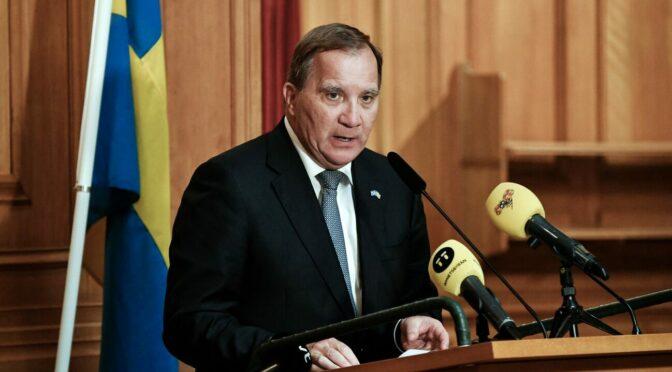 瑞典首相勒文宣布他将于11月辞职