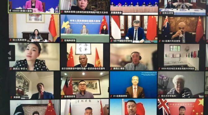 新疆与20国海外华侨华人社团负责人举行视频交流会