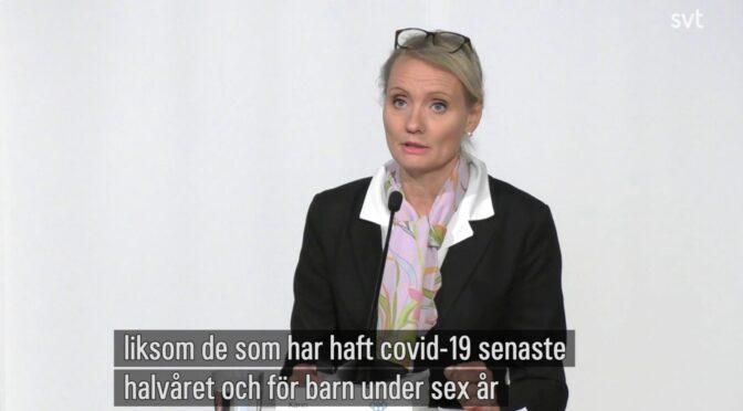 瑞典公共卫生局召开新闻发布会